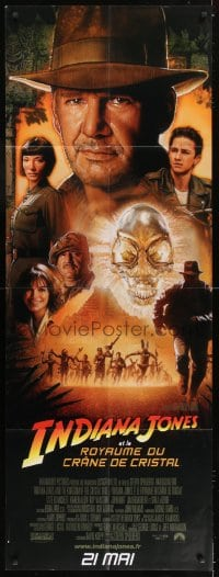6t735 INDIANA JONES & THE KINGDOM OF THE CRYSTAL SKULL French door panel 2008 Spielberg, Drew art!