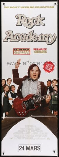 6t741 SCHOOL OF ROCK French door panel 2004 Jack Black teaches 5th grade kids at Rock Academy!