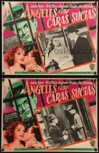 6t094 ANGELS WITH DIRTY FACES 6 Mexican LCs R1950s James Cagney, Humphrey Bogart, Ann Sheridan!