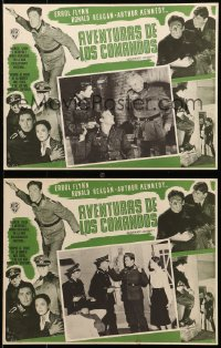 6t098 DESPERATE JOURNEY 5 Mexican LCs 1940s Errol Flynn & Ronald Reagan crash-land in WWII Germany!