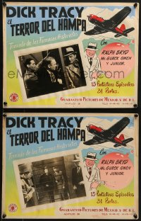 6t109 DICK TRACY VS. CRIME INC. 2 Mexican LCs 1941 Ralph Byrd, Chester Gould detective, very rare!