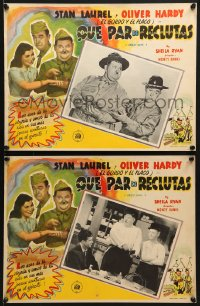 6t111 GREAT GUNS 2 Mexican LCs R1950s screwballs Stan Laurel & Oliver Hardy join the military!