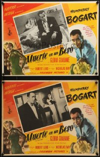 6t087 IN A LONELY PLACE 8 Mexican LCs 1950 Humphrey Bogart, Gloria Grahame, Nicholas Ray classic!