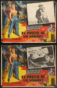 6t088 NAKED SPUR 8 Mexican LCs 1953 James Stewart & sexy Janet Leigh, cool border art!