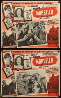 6t102 PASSAGE TO MARSEILLE 4 Mexican LCs R1960s Humphrey Bogart, Michele Morgan, Peter Lorre