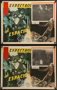 6t099 PLAN 9 FROM OUTER SPACE 5 Mexican LCs 1958 Vampira, Tor Johnson, Bela Lugosi, Ed Wood!