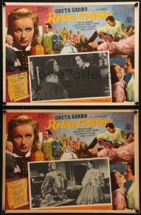 6t090 QUEEN CHRISTINA 8 Mexican LCs R1950s Greta Garbo, John Gilbert, Ian Keith, Lewis Stone