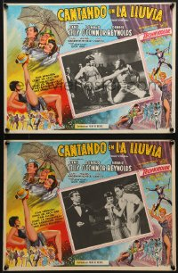 6t103 SINGIN' IN THE RAIN 4 Mexican LCs R1950s Gene Kelly & sexy Cyd Charisse, classic musical!