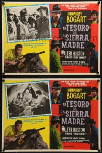 6t092 TREASURE OF THE SIERRA MADRE 8 Mexican LCs R1960s Humphrey Bogart, Tim Holt & Walter Huston!