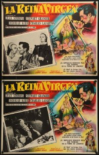 6t081 YOUNG BESS 9 Mexican LCs 1953 Jean Simmons, Stewart Granger, Deborah Kerr, Charles Laughton!