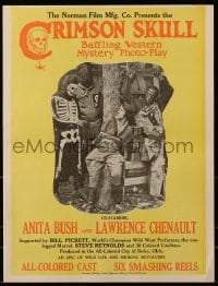 6t013 CRIMSON SKULL pressbook 1921 colored cowboys Anita Bush & Lawrence Chenault, all black!