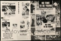 6t033 NO TIME TO BE YOUNG pressbook 1957 Robert Vaughn, too old to be teens, too young to be adults!