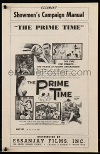 6t035 PRIME TIME pressbook 1960 Herschell Gordon Lewis, the fears of young awakening!
