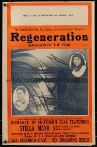 6t040 REGENERATION pressbook 1923 colored beauty Stella Mayo romance at sea with all colored cast!