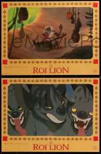 6t742 LION KING 10 French LCs 1994 classic Disney cartoon set in Africa, great images!