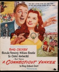 6t011 CONNECTICUT YANKEE IN KING ARTHUR'S COURT pressbook 1949 Bing Crosby, Rhonda Fleming, Twain!