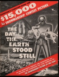6t014 DAY THE EARTH STOOD STILL pressbook 1951 classic art of Gort & Patricia Neal, bound in herald!