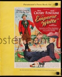 6t020 EMPEROR WALTZ pressbook 1948 great images of Bing Crosby & Joan Fontaine in Switzerland!
