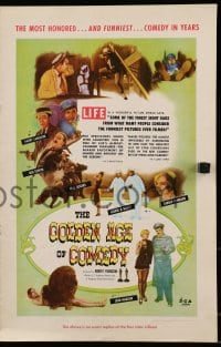 6t023 GOLDEN AGE OF COMEDY pressbook 1958 Laurel & Hardy, Jean Harlow, winner of 2 Academy Awards!