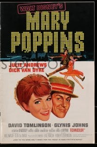 6t031 MARY POPPINS pressbook 1964 Julie Andrews & Dick Van Dyke in Disney musical classic!