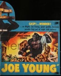 6t032 MIGHTY JOE YOUNG pressbook 1949 first Ray Harryhausen, color folder & 2 sections, ultra rare!