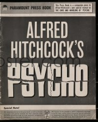 6t036 PSYCHO pressbook 1960 Alfred Hitchcock, includes rare Care & Handling of Psycho supplement!
