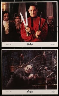 7d045 ADDAMS FAMILY 8 8x10 mini LCs 1991 Raul Julia, Christina Ricci, Christopher Lloyd, Huston