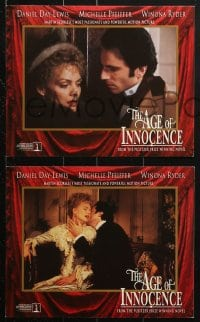 7d046 AGE OF INNOCENCE 8 8x10 mini LCs 1993 Martin Scorsese, Daniel Day-Lewis & Michelle Pfeiffer!