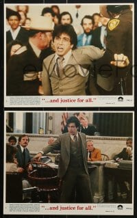 7d049 AND JUSTICE FOR ALL 8 8x10 mini LCs 1979 directed by Norman Jewison, Al Pacino is out of order