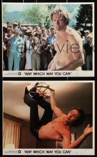 7d051 ANY WHICH WAY YOU CAN 8 8x10 mini LCs 1980 Clint Eastwood, Sondra Locke & Clyde the orangutan!