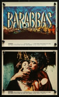 7d031 BARABBAS 9 color 8x10 stills 1962 Richard Fleischer, Anthony Quinn & Silvana Mangano!