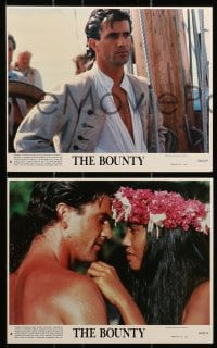 7d063 BOUNTY 8 8x10 mini LCs 1984 Gibson, Anthony Hopkins, Laurence Olivier, Mutiny on the Bounty!