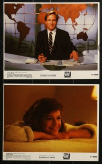 7d065 BROADCAST NEWS 8 8x10 mini LCs 1987 portraits of William Hurt, Holly Hunter & Albert Brooks!