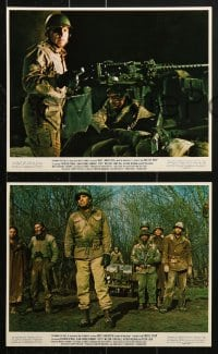7d067 CASTLE KEEP 8 color 8x10 stills 1969 Burt Lancaster with eyepatch in World War II!