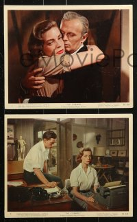 7d072 COBWEB 8 color 8x10 stills 1955 great images with Richard Widmark and sexiest Lauren Bacall!