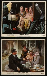 7d035 NEW KIND OF LOVE 9 color 8x10 stills 1963 Paul Newman, Joanne Woodward, Maurice Chevalier, Gabor