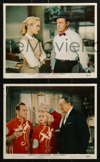 7d039 THAT CERTAIN FEELING 9 color 8x10 stills 1956 Bob Hope, Eva Marie Saint, George Sanders!