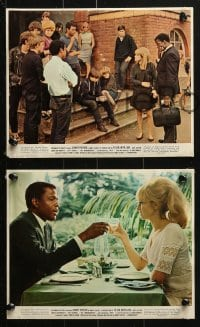 7d040 TO SIR, WITH LOVE 9 color 8x10 stills 1967 Sidney Poitier, Geeson, directed by James Clavell!