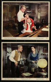 7d042 TRIBUTE TO A BAD MAN 9 color 8x10 stills 1956 great images of cowboy James Cagney, Papas!