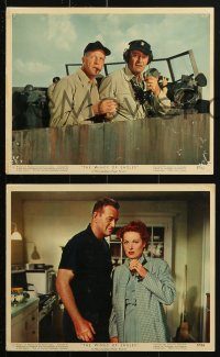 7d043 WINGS OF EAGLES 9 color 8x10 stills 1957 Naval Aviation pilot John Wayne & Maureen O'Hara!
