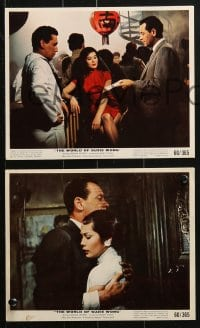 7d044 WORLD OF SUZIE WONG 9 color 8x10 stills 1960 William Holden, first man that Nancy Kwan loved!