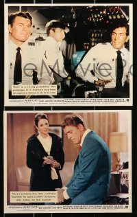 7d047 AIRPORT 8 color English FOH LCs 1970 Dean Martin, Burt Lancaster, George Kennedy & more!