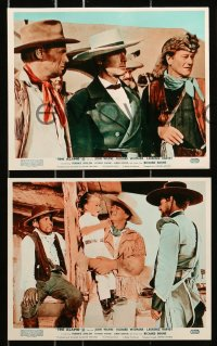 7d048 ALAMO 8 color English FOH LCs R1967 Richard Widmark & Harvey in the Texas War of Independence!