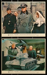 7d056 BATTLE OF THE BULGE 8 color English FOH LCs 1965 Ken Annakin, Robert Shaw, cool WWII images!