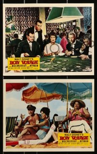 7d060 BON VOYAGE 8 color English FOH LCs 1962 Walt Disney, Fred MacMurray, Jane Wyman!