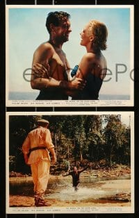 7d064 BRIDGE ON THE RIVER KWAI 8 color English FOH LCs 1958 Holden, Hawkins & Donald, Lean classic!