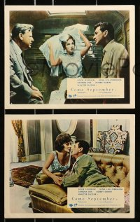 7d074 COME SEPTEMBER 8 color English FOH LCs 1961 Sandra Dee, sexy Gina Lollobrigida, Hudson, Darin!