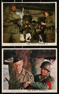 7d078 DIRTY DOZEN 8 color English FOH LCs 1967 Lee Marvin, Borgnine, Charles Bronson, Telly Savalas!