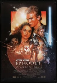 7f042 ATTACK OF THE CLONES DS Aust 1sh 2002 Star Wars Episode II, Struzan art, Christensen & Portman