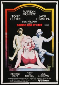 7f048 SOME LIKE IT HOT Aust 1sh R1980 sexy Marilyn Monroe, Tony Curtis & Jack Lemmon in drag!
